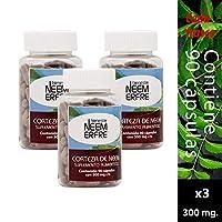 Paquete de 3-90 Cápsulas de corteza de Neem