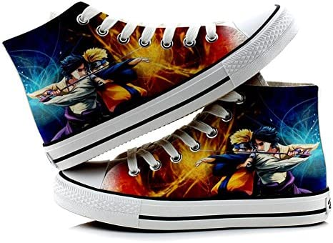 Telacos Naruto Cosplay Shoes Canvas Shoes Sneakers Colourful 3