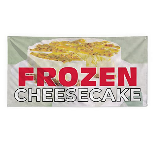 Frozen Cheesecake #1 Outdoor Fence Sign Vinyl Windproof Mesh Banner With Grommets - 5ftx10ft, 10 (10' Cheesecake)