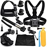 VVHOOY 9 in 1 Universal Action Camera Accessory Bundle Kit Compatible for Gopro Hero 7/6/5/AKASO EK7000/Brave 4K/V50/ODRVM/APEMAN/FITFORT/Victure/Campark ACT74 Waterproof Action Camera Review