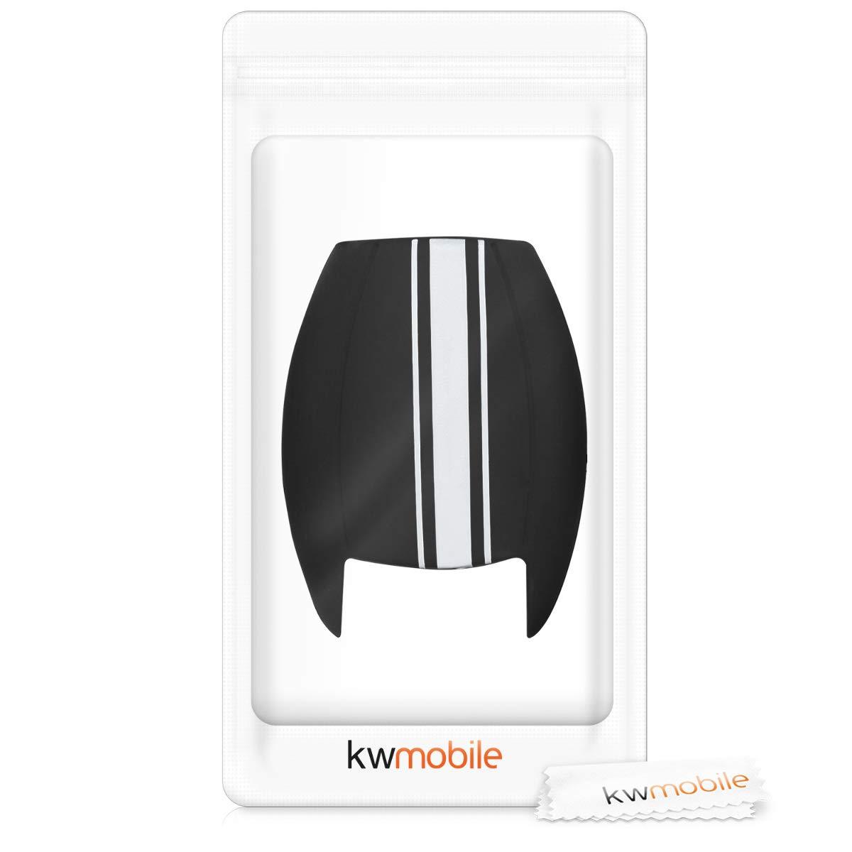 kwmobile Funda para Llave de 2 Botones para Coche Solamente Keyless Go Case de Mando de Auto con dise/ño de Rally - Carcasa Protectora Suave de Silicona