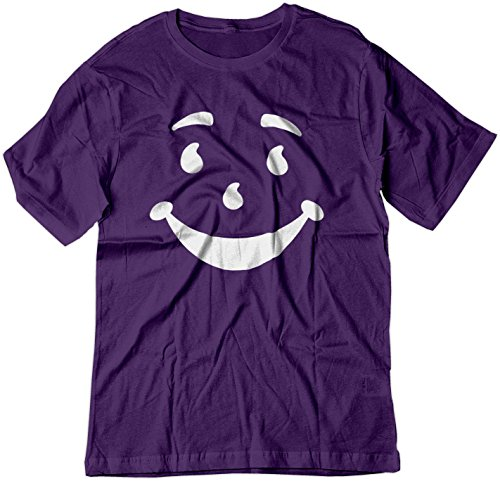 BSW Men's Kool-Aid Man Smiley Face Oh Yeah! Juice Shirt XL Purple