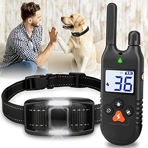 Ropetty Rechargeable Waterproof Dog Shock Collar with Beep