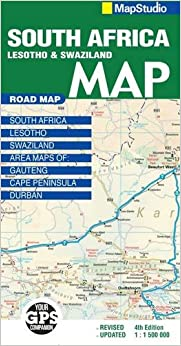 Road Map South Africa Lesotho Swaziland Map Studio - Swaziland map