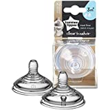 Tommee Tippee Closer to Nature Baby Bottle Feeding Nipple Replacement, Medium Flow,0+ Months – 2 Count