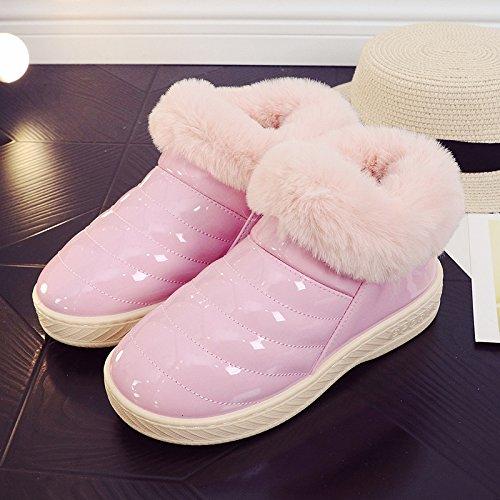 Inverno fankou cotone pantofole pacchetto femmina con un soggiorno al coperto e gli amanti della vita all'aperto caldo antiscivolo scarpe di cotone uomini e ,42/43, rosa intenso