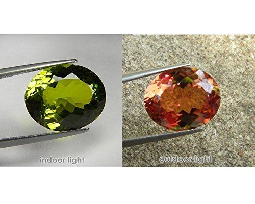 15x12 mm.Rare Big Size Oval Portuguese Cut color change Diaspore