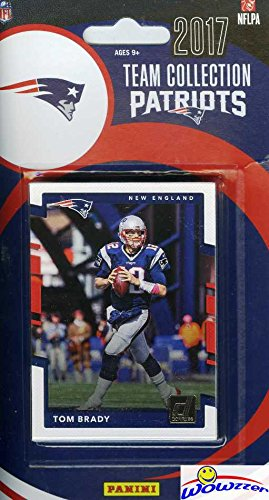 New England Patriots 2017 Donruss NFL Football Factory Sealed Limited Edition 10 Card Complete Team Set with TOM BRADY,Rob Gronkowski,Legend Tedy Bruschi & Many More! Shipped in Bubble Mailer! WOWZZER
