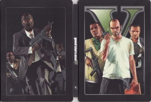 Grand Theft Auto V Steelbook Case - Xbox 360 [NO GAME] by Rockstar ...