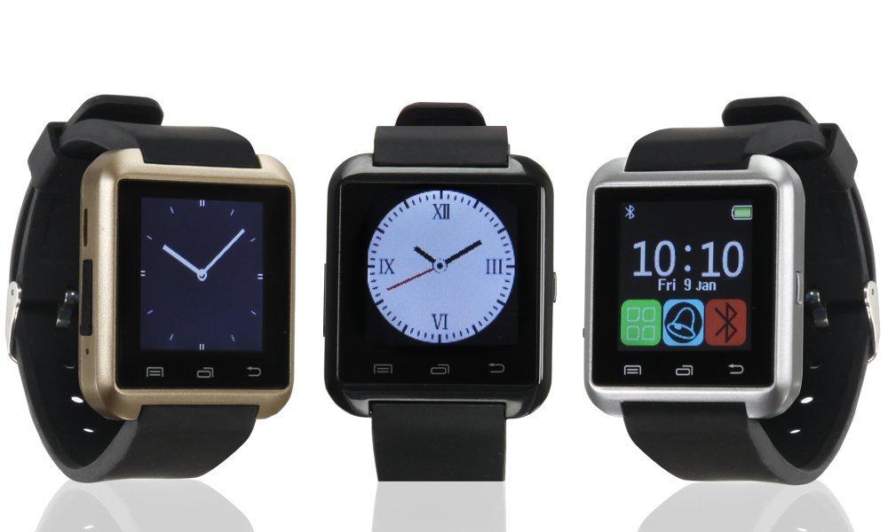 Bas - Tek Montre bracelet connectée Bluetooth avec écran tactile, compatible avec iPhone et Android, SMS, alarme, appareil photo, Noir: Amazon.fr: High-tech