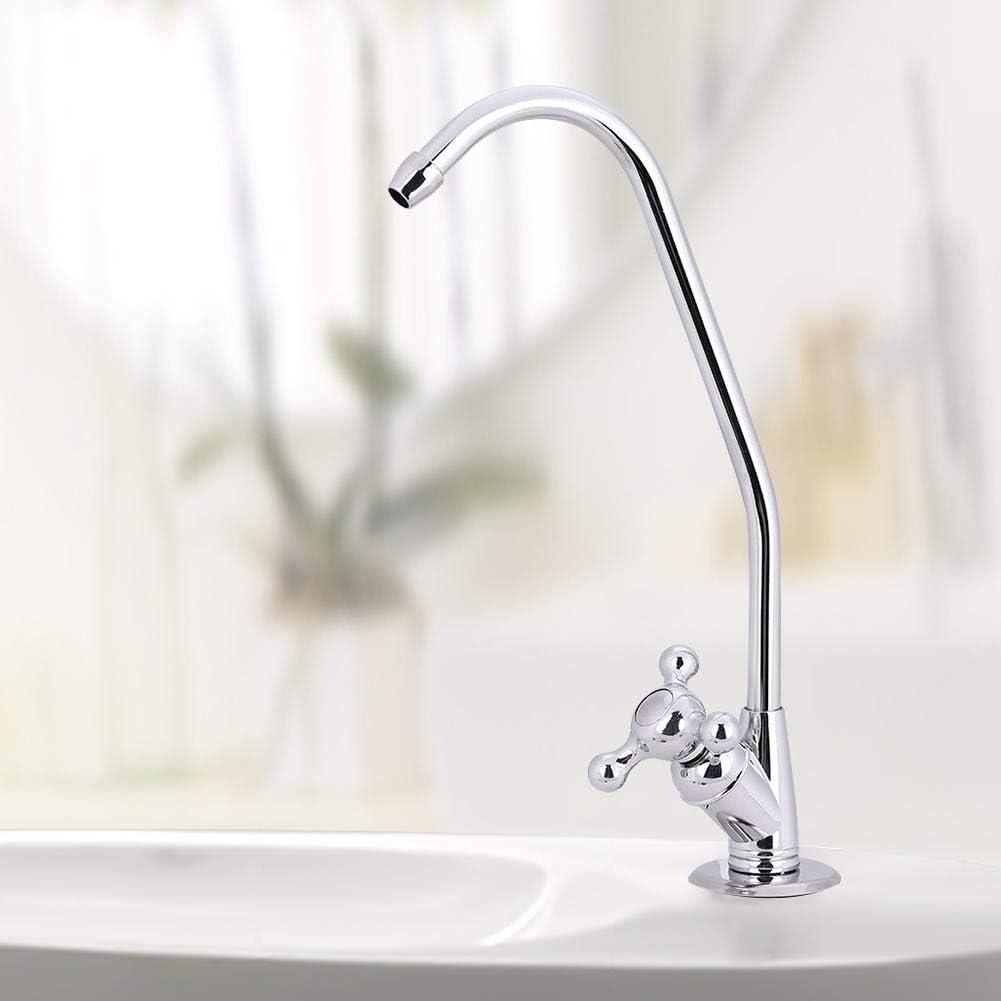 Zerodis 1//10,2/cm in lega di zinco a doppia testa rubinetto cromato Fast connessione ad osmosi inversa acqua potabile filtro rubinetto da cucina