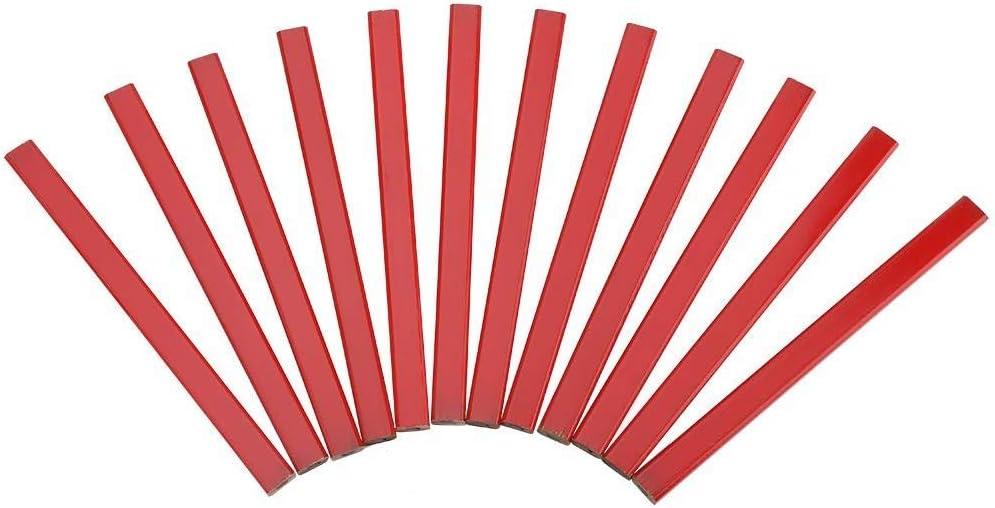 Zimmermannsbleistift , 175mm Rot HB Achteckiger Bleistift Hartholz Markierungswerkzeug Zimmermannsbleistift (72Pcs // pack