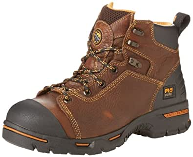 "Timberland PRO Men's Endurance PRO Waterproof 6"" Work Boot,Rancher Brown,7 W"