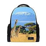 My Daily Giraffe Kilimanjaro Mount Africa Backpack 14 Inch Laptop Daypack Bookbag for Travel College School