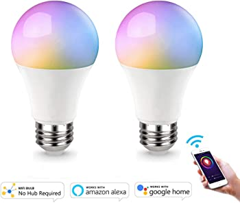 AED Smart Wifi A19 Dimmable LED Light Bulb
