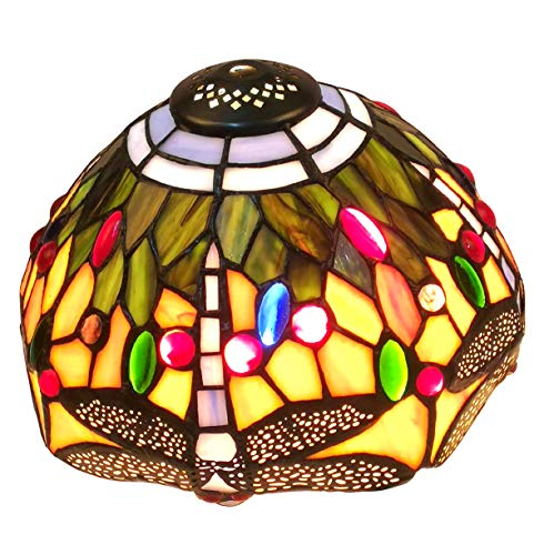 NOSHY Premium Tiffany Dragonfly Style SH-048 Lampshades Only Replacement for Table lamp, 8-Inch Width, Multi-Colored, Exclusion Accessories, Pack of 1