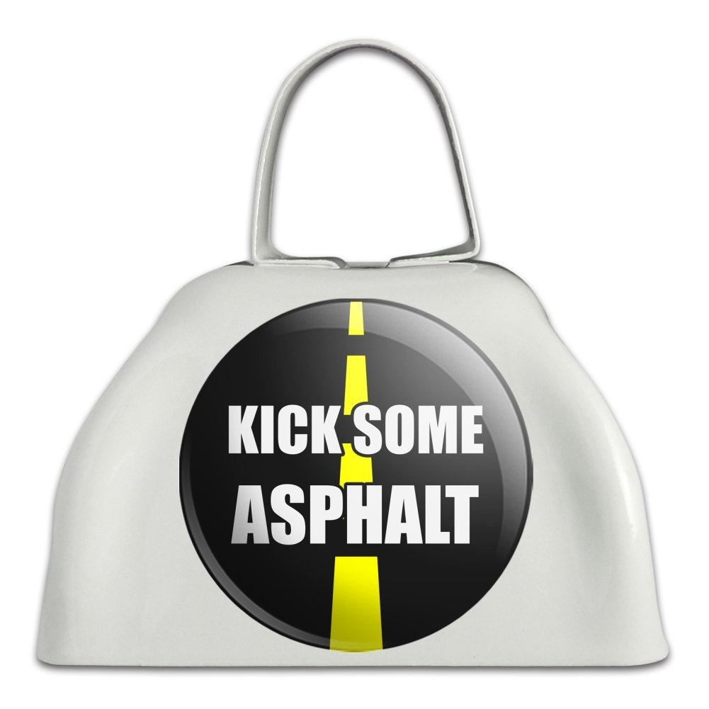 Kick Some Asphalt Running Runners White Metal Cowbell Cow Bell Instrument