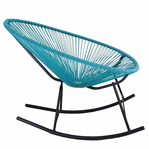 Design Tree Home Acapulco Indoor/Outdoor Rocking Chair, Blue Color