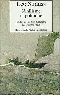 Nihilisme et politique par Leo Strauss