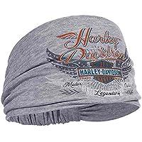 Harley-Davidson Mujer studded Winged Bar & Shield Headband Coletero he17354