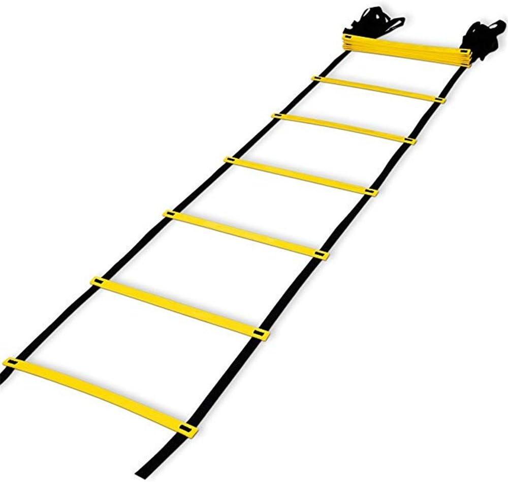 AIYIOUWEI 12-Peldaño Pro Agilidad Escalera Agilidad Formación Escalera Peldaño Plano con Bolsa De Transporte (Amarillo): Amazon.es: Deportes y aire libre