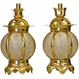 吊灯籠(吊り灯篭) アルミ丸型 小/直径 7.5cm 1対