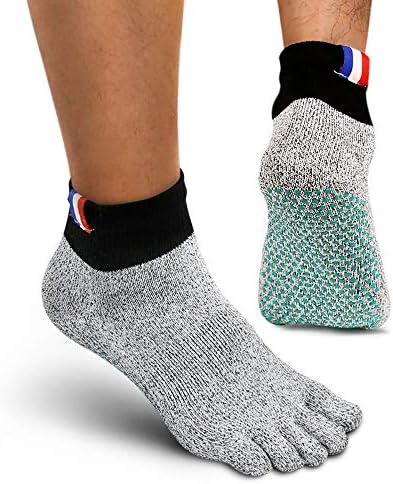 Minimalist Barefoot Sock ,Men's Toe Socks With Grip Anti Abrasion Crew Sock Fit Fitness,Beach, Hiking & Home Activities