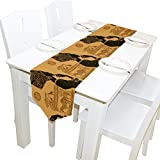Yochoice Table Runner Home Decor, Vintage African Black Woman Table Cloth Runner Coffee Mat for Wedding Party Banquet Decoration 13 x 70 inches