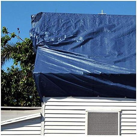 FQJYNLY 防水シート防塵暗号化されたボタンホール日焼け止めアウトドアガレージ、17サイズ (Color : Blue, Size : 8X10m)