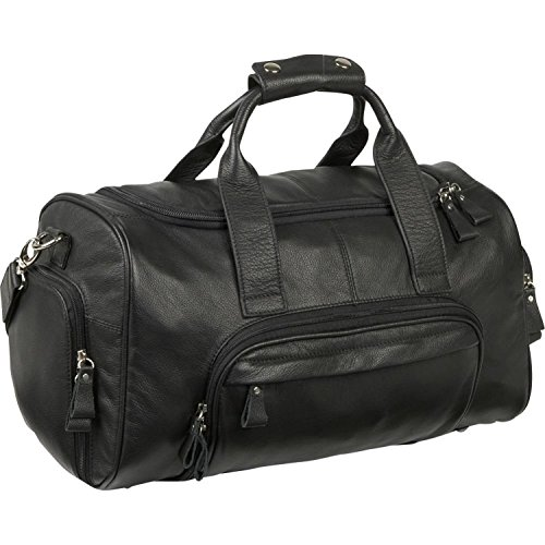 - ROYCE Lightweight Travel Duffel Bag Handcrafted in Genuine Leather, Black