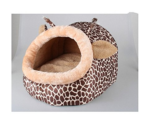 Giraffe shape dog house, Cute Pet Cat Dog Bed & Lounge With Warm Plush Pad