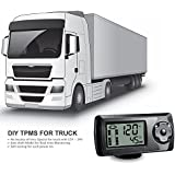 STEELMATE® Wireless DIY Professional Tire Pressure Monitoring System TP-81E 6 External Valve-Cap Sensors TPMS Model for Truck