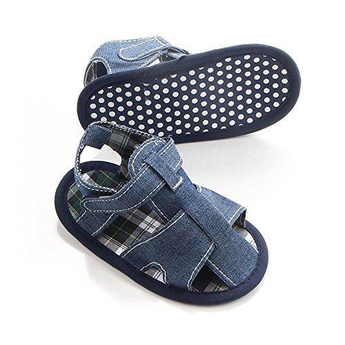 Etrack-Online Baby Sandals - Zapatos primeros pasos de Lona para niño Azul