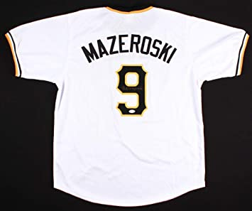 huge selection of 0cab7 7107d Bill Mazeroski Autographed White Pittsburgh Pirates Jersey ...