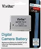 Vivitar LP-E8 LPE8 Replacement 1300mAh Lithium-Ion Battery for Canon EOS Rebel T2i, T3i, T4i, T5i, 550D, 600D, 650D, 700D, Kiss X4, X5, X6 DSLR SLR Digital Camera (VIV-CB-E8)