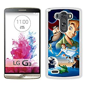 LG G3 peter pan White Screen Cellphone Case Unique and Fashion Design