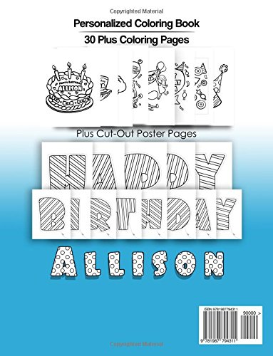 Allison\'s Birthday Coloring Book Kids Personalized Books: A Coloring ...