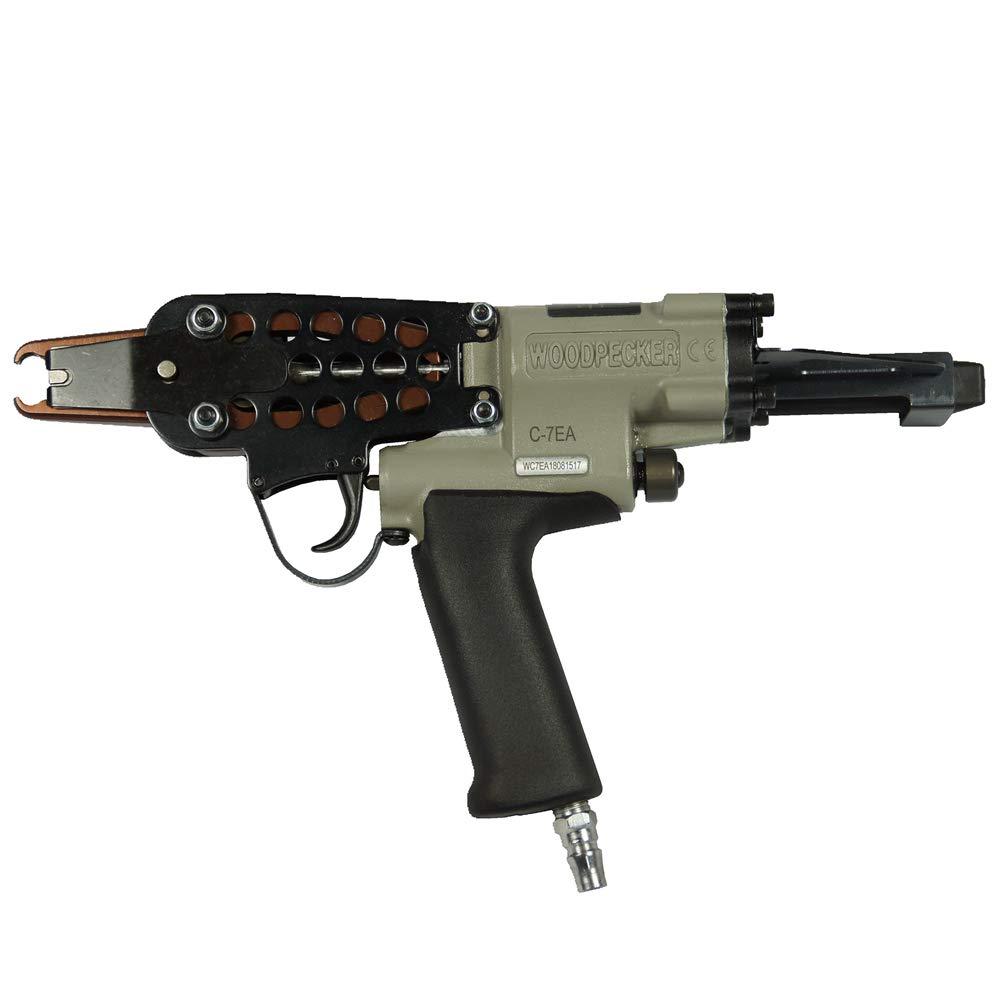 Woodpecker C-7EA 15 Gauge 3/4-Inch 7.0-8.0mm Closure Diameter C ring piler Pneumatic C Ring Tool Hog Ring Plier C ring gun for Mattress