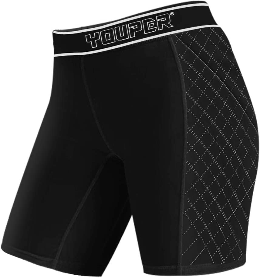 Youper Women's Classic Softball Sliding Shorts, Compression Padded Slider Shorts : Sports & Outdoors