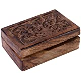 Albero della Vita in legno portagioie, Legno, Brown, 15 x 10 x 6 cm