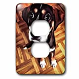 Marty The Soulful Eyed Dog Light Switch Cover is made of durable scratch resistant metal that will not fade, chip or peel. Featuring a high gloss finish, along with matching screws makes this cover the perfect finishing touch.