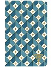 Carnet bleu canard 11x17 96 p ligné 194206C