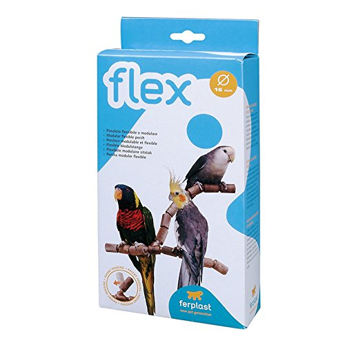 Adjustable Plastic Perch - Ferplast Flex 4192 Adjustable Bird Cage Perch (0.6in) (Brown)