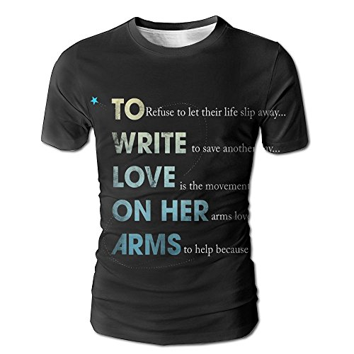 BabylLave to Write Love on Her Arms Unisex Basic Blend Retro Short T Shirt