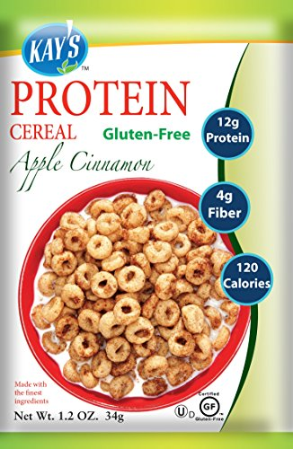 Kay's Naturals Protein Cereal, Apple Cinnamon, Gluten-Free, 1.2 Ounce (Pack of 6)
