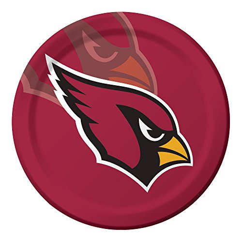 Creative Converting 96-Count Arizona Cardinals  Paper Dinner Plates