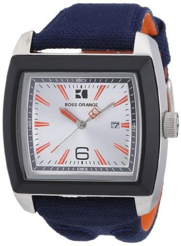 Boss Orange Blue Fabric Mens Watch 1512602 Noticeable