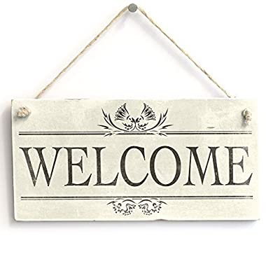 Welcome Handmade Rustic Wood Sign Wall Plaque Wooden Hanging Plaque For Entrance Porch Home Decor Door Sign Funny Gifts Sign