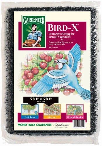 Mesh Polypropylene Fencing - Dalen BN-3 Gardeneer Bird-X Protective Netting 28' x 28' (1 Pack) (100055857) , Black