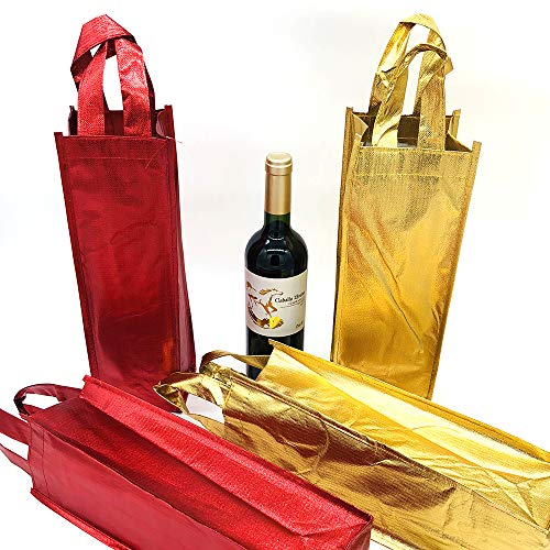 Amazon.com: 4 bolsas de regalo para botella de vino de ...